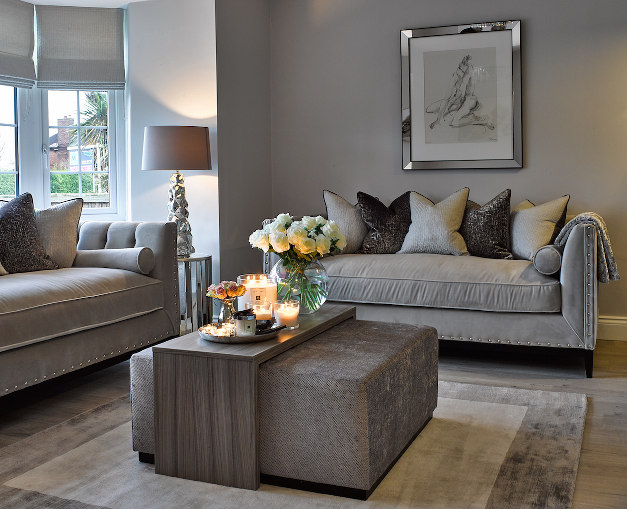 Stretton, Living Room, Made to Order Furniture, GP & J Baker, Nobilis, Bella Peroni, Interior Design, Cheshire.