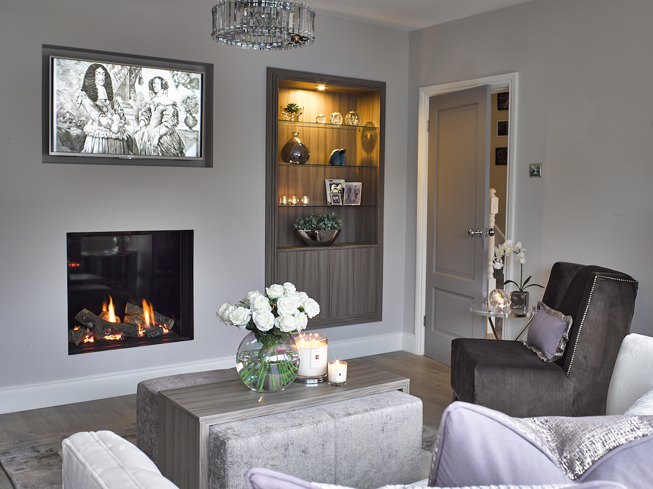 Stretton, Living Room, Made to Order, Elstead Lighting, Interior Design, Cheshire